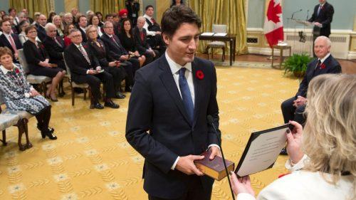 Justin Trudeau was sworn Canada