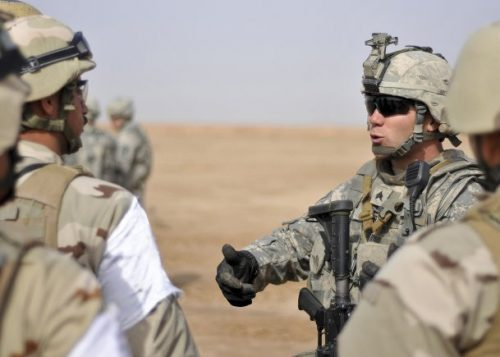 military instructors in Iraq