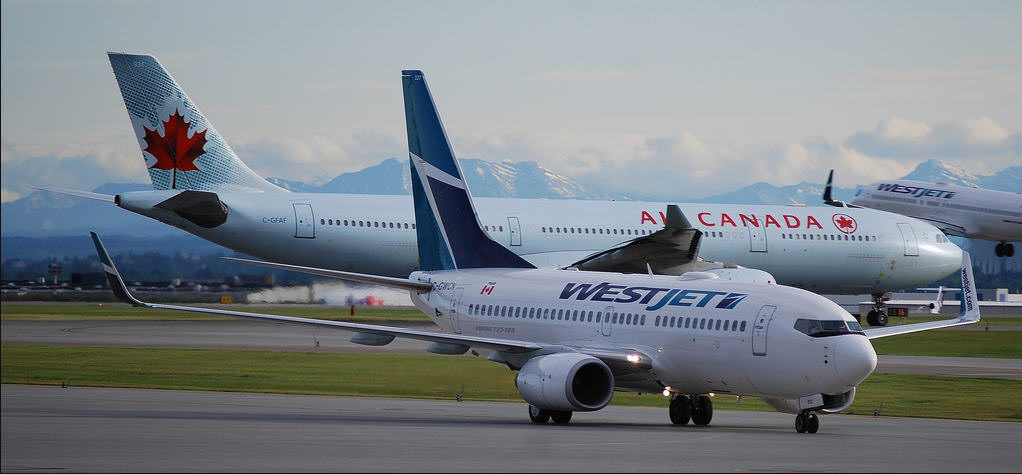 WestJet-and-Air-Canada-Planes